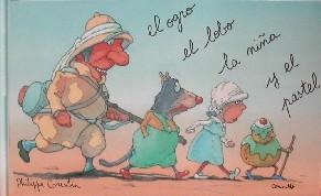 El ogro, el lobo, la niña y el pastel