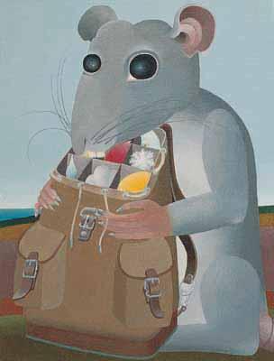 Como el ratón descubre el mundo al caerle una piedra en la cabeza
