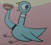 ¡La paloma encuentra un hot dog!